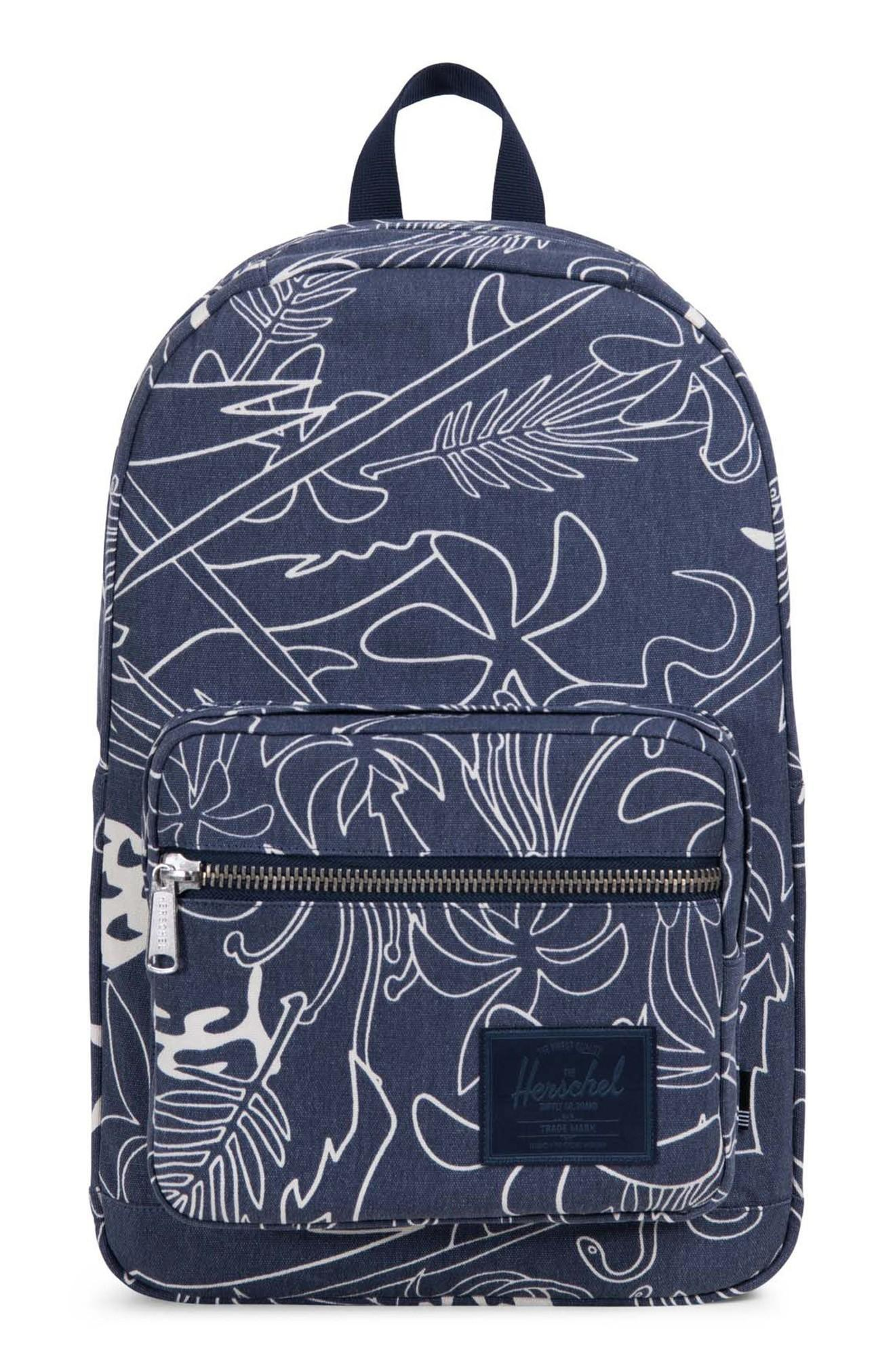 7d895b1ffeb Herschel Supply Co. Pop Quiz Print Canvas Backpack - Blue In Abstract Island