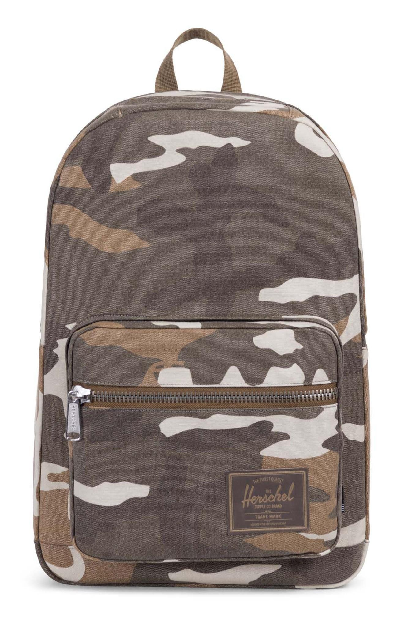5c3e41b3f10 Herschel Supply Co. Pop Quiz Print Canvas Backpack - Brown In Cub Camo