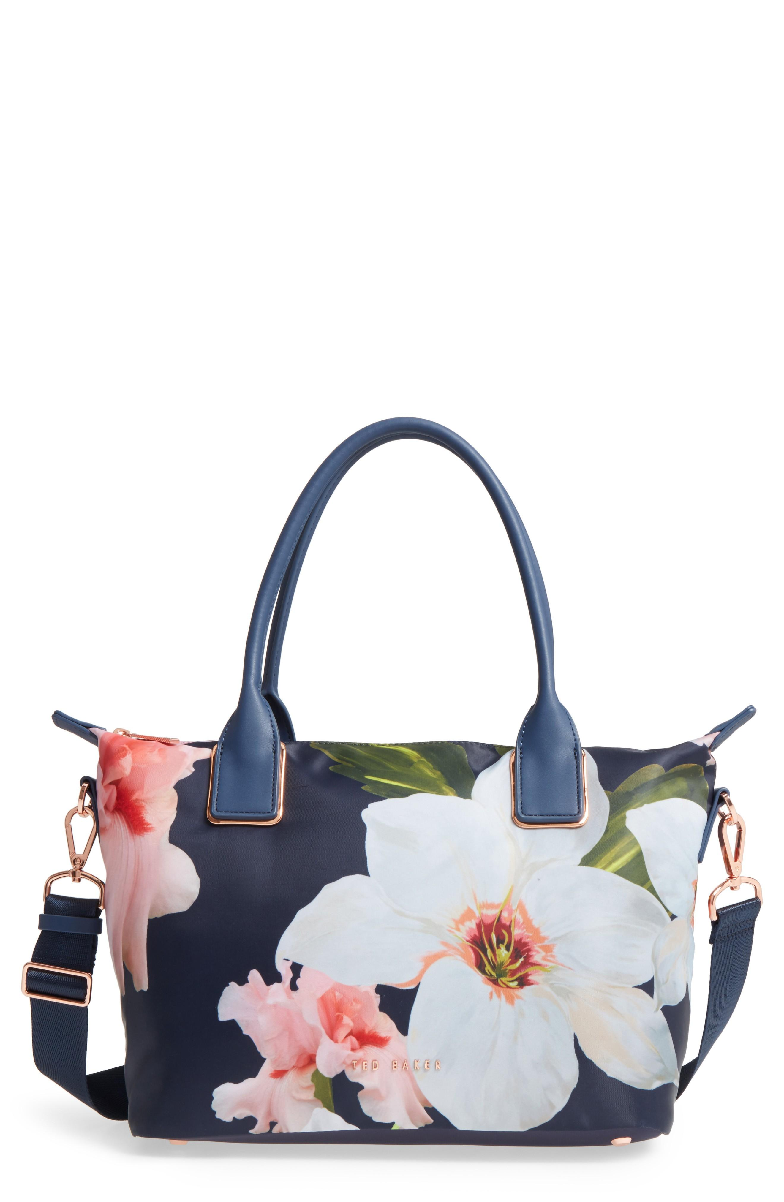 d40d7960490e Ted Baker Small Orsja Chatsworth Bloom Nylon Tote - Blue In Navy ...