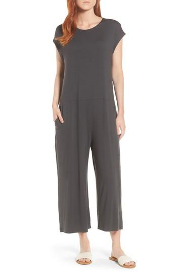 3f2a29fc278 Eileen Fisher Cropped Wide Leg Jumpsuit In Graphite | ModeSens