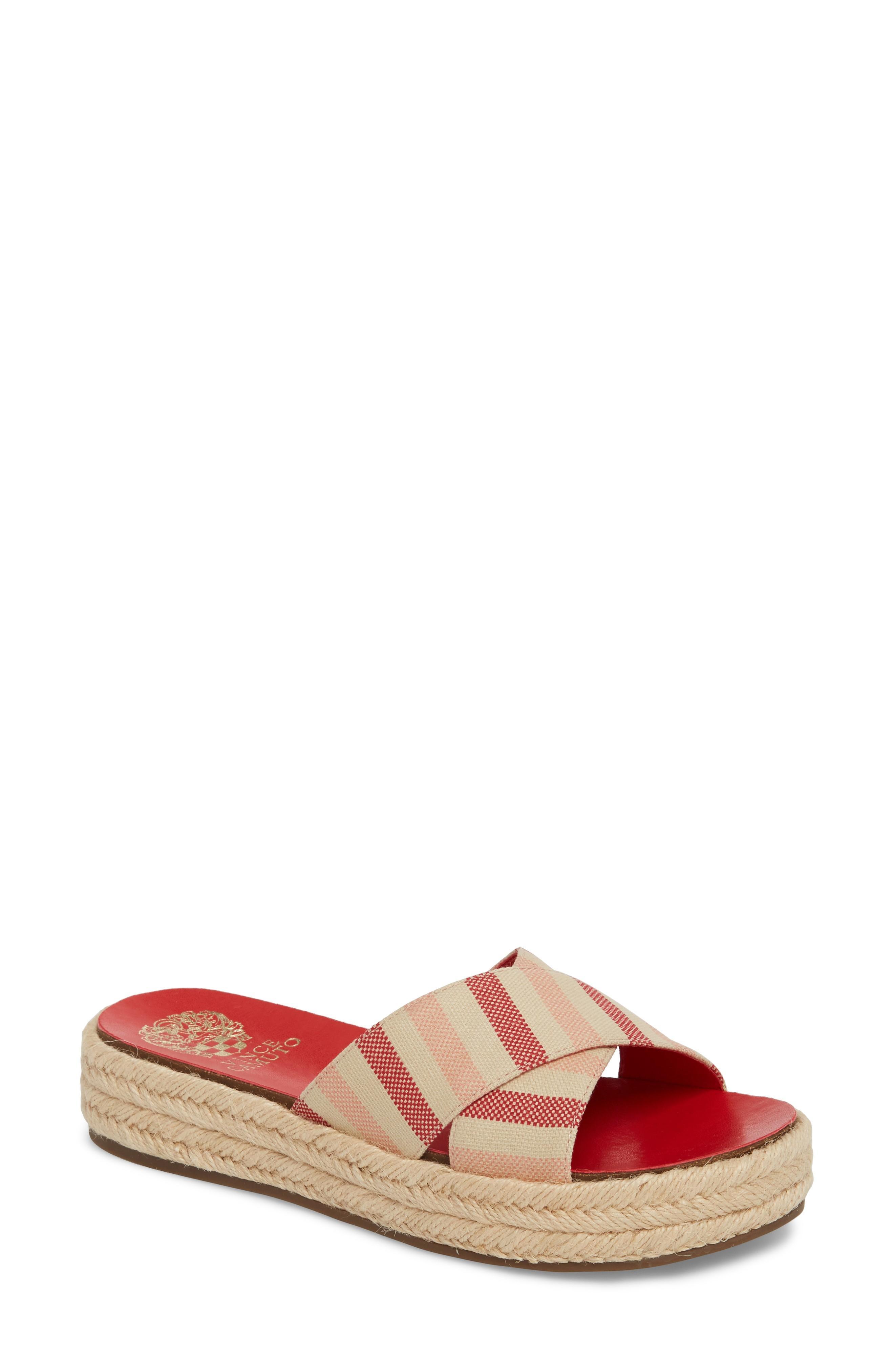 41a9ed5137d Vince Camuto Carran Platform Sandal In Metal Sand Leather