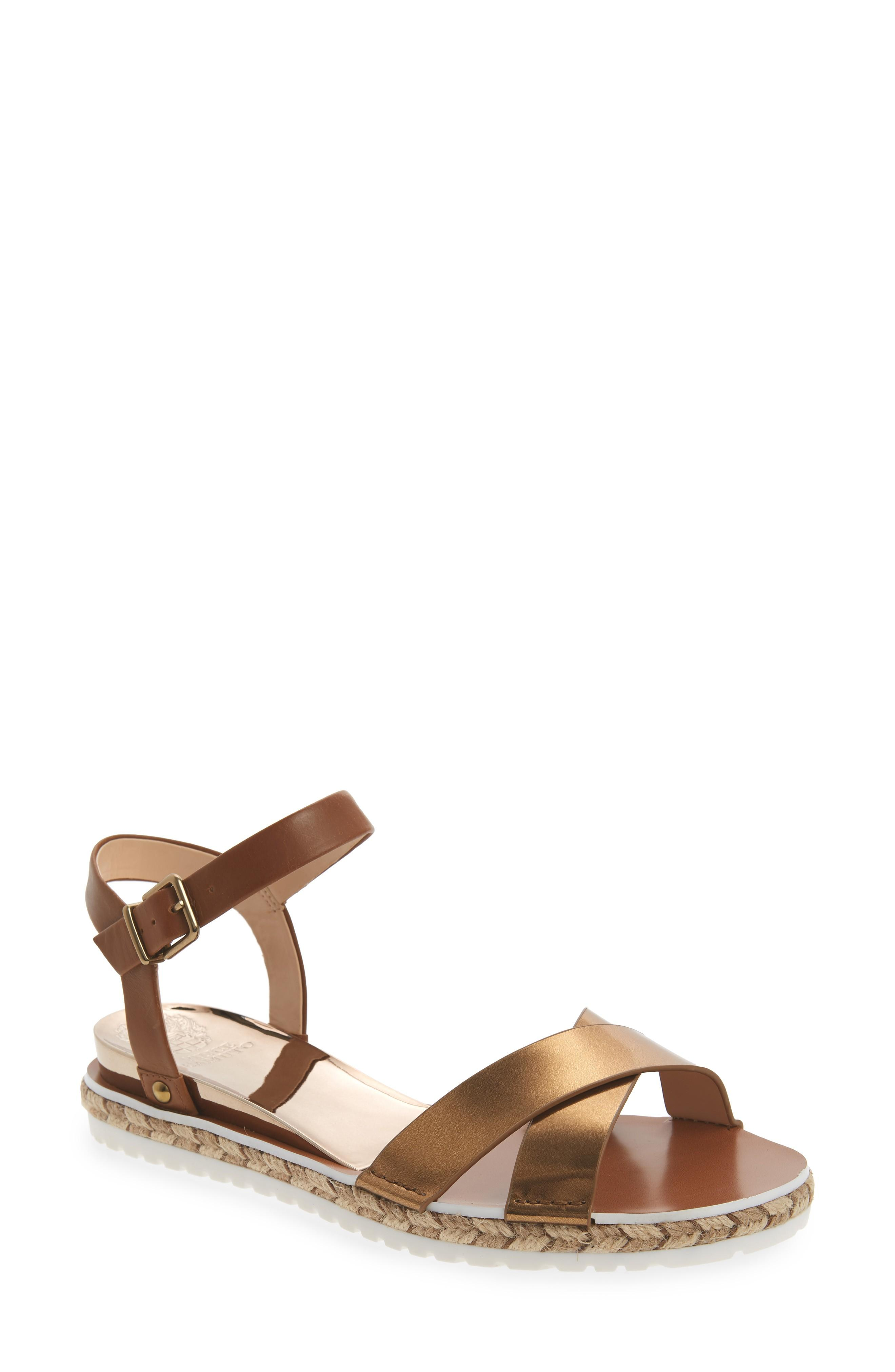 c087545075f Espadrille trim and a slim wedge heel add breezy sophistication to a  minimalist ankle-strap sandal. Style Name  Vince Camuto Kankitta Sandal  (Women).