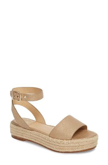 f5f19a25cd4 Vince Camuto Kathalia Platform Sandal In Metal Gold Leather