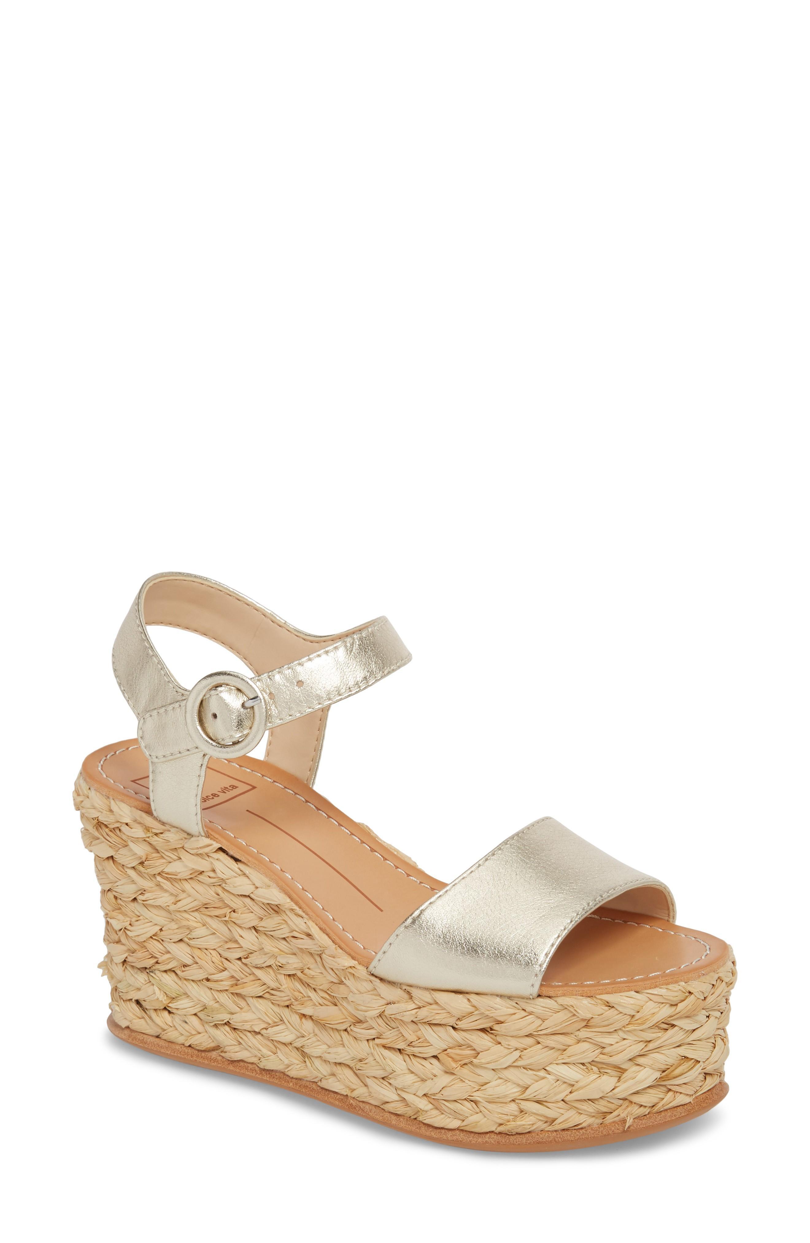 b7c50fe9dd9 Dolce Vita Women's Dane Espadrille Platform Wedge Sandals In Indigo ...