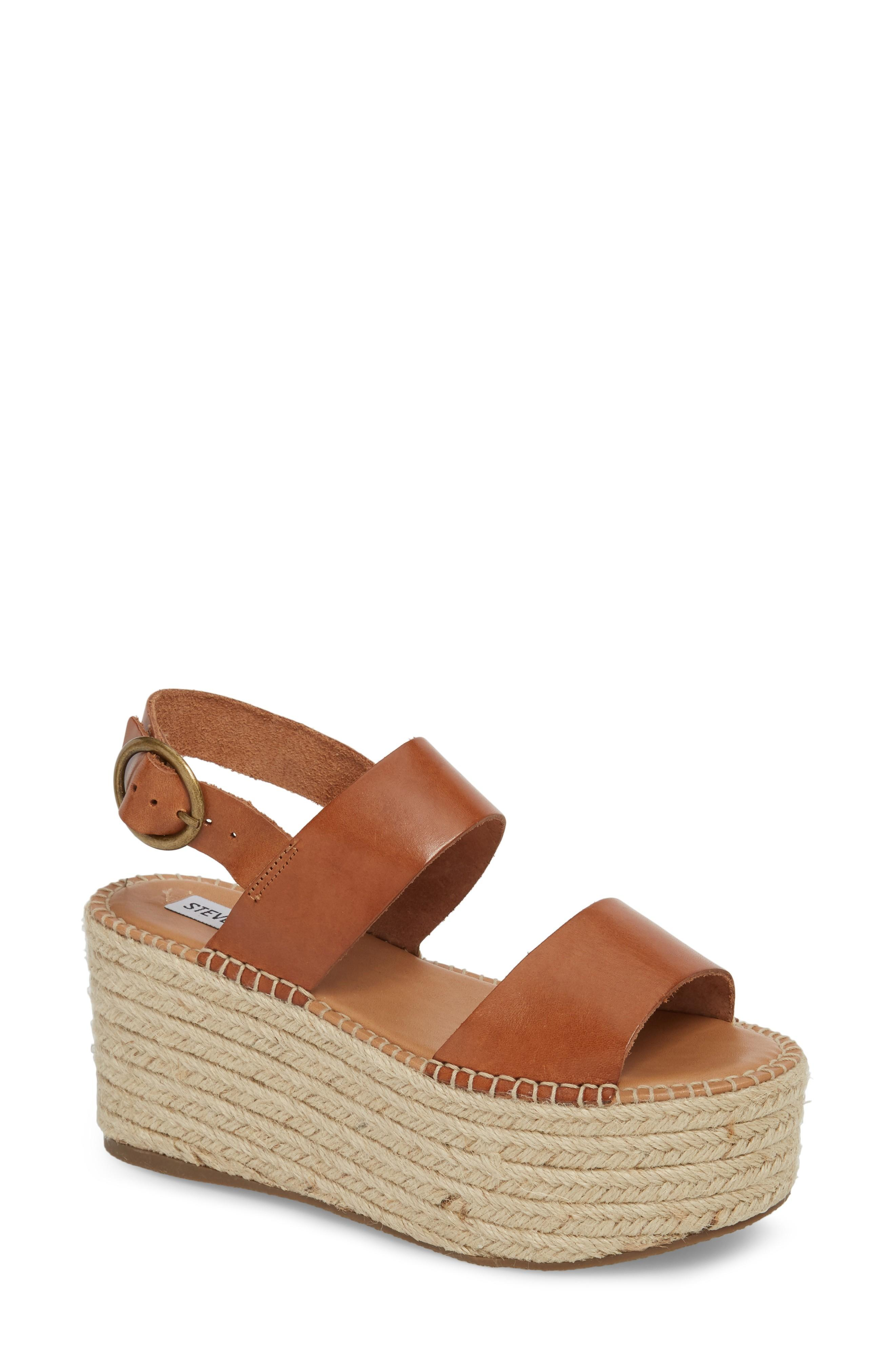 d7441b2d604 Steve Madden Cali Espadrille Platform Sandal In Cognac Leather ...