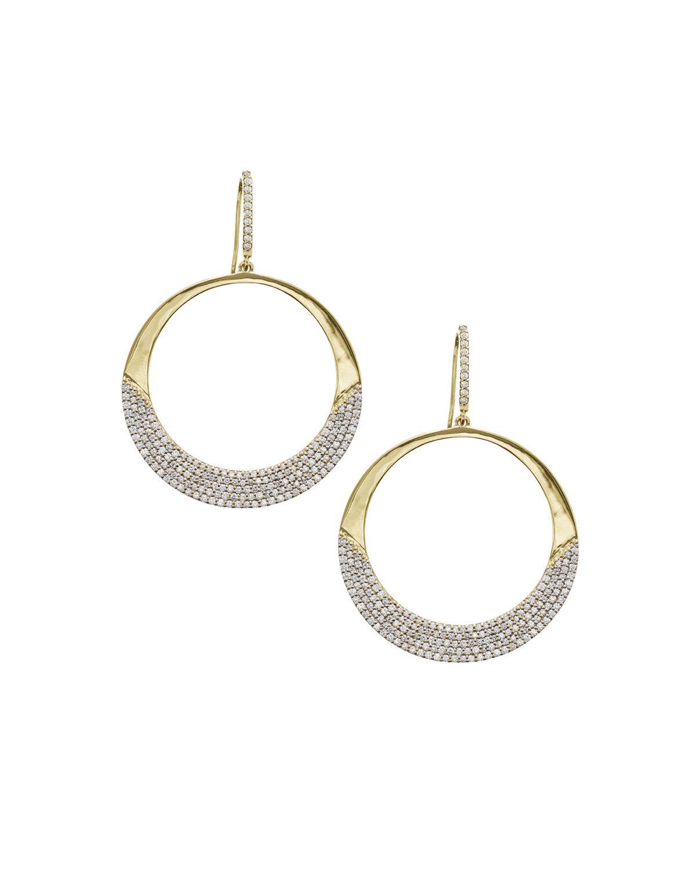 afe3dde6a Lana 14K Flawless Small Diamond Crescent Hoop Earrings   ModeSens