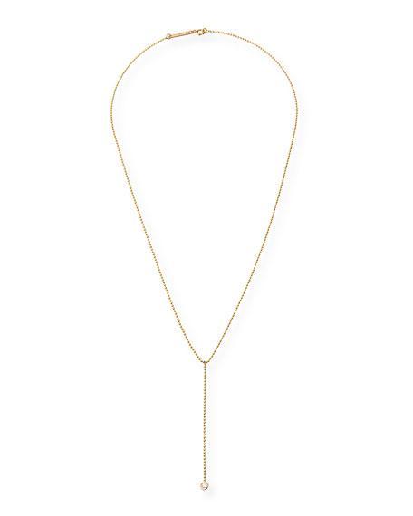 ZoË Chicco 14K Diamond Lariat Necklace In Rose Gold
