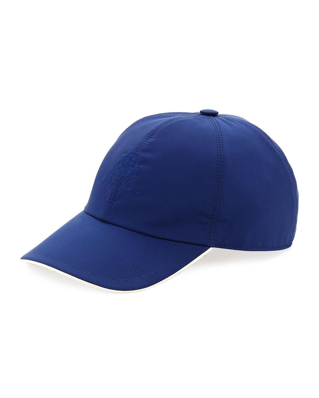 Loro Piana Wind Logo-Embroidered Baseball Hat In Navy