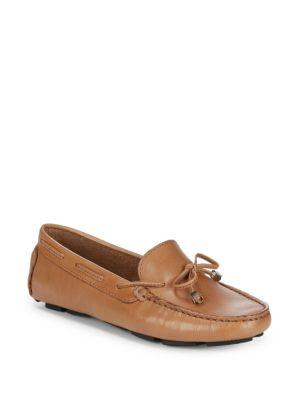 e1cb11f682 Lace-Up Leather Driver Shoes in Tan