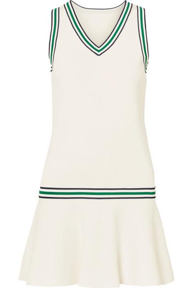 bbeb97be1ae4b9 Tory Sport Striped Stretch-Knit Mini Dress In White   ModeSens