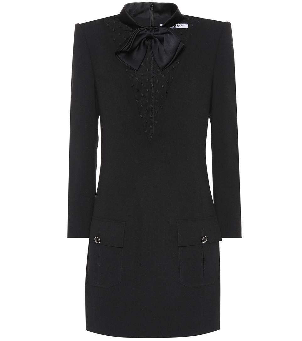 Givenchy Wool CrÊPe Dress In Black