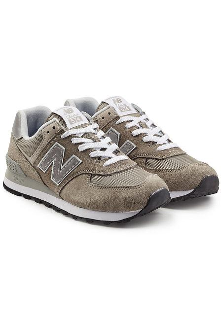 New Balance Wl574 B Suede Sneakers With Mesh In Grey