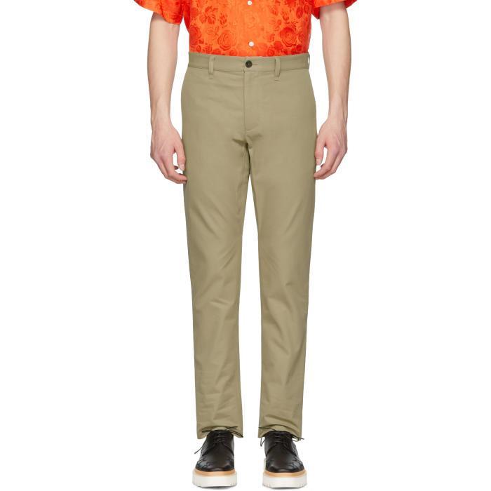 Msgm Khaki Trousers In 26.Khaki