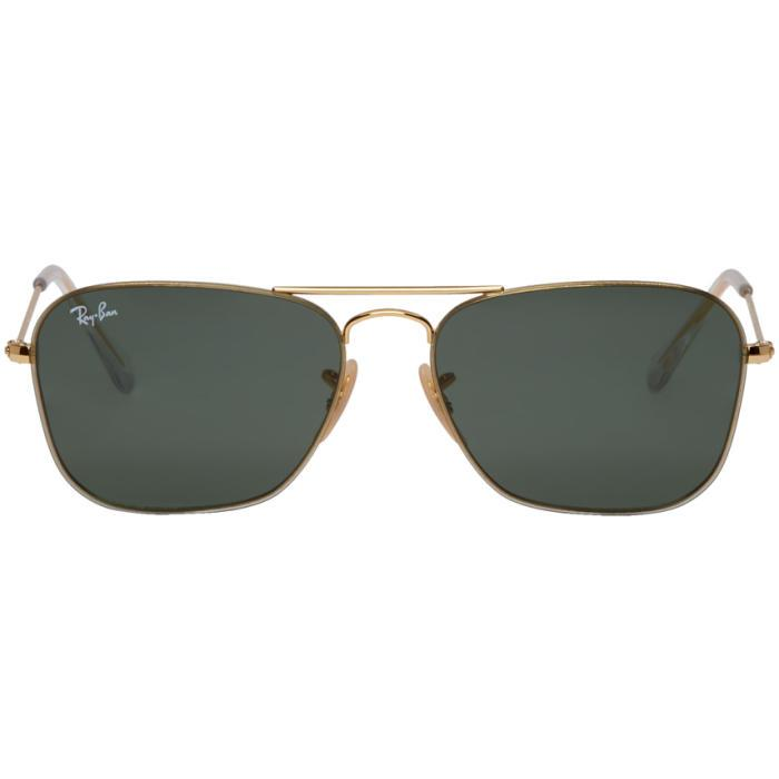 22fb05e82a5 Ray Ban Ray-Ban Gold Rb3603 Sunglasses In 001 71 Gld