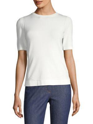 Escada Setnar Short-Sleeve Top In White