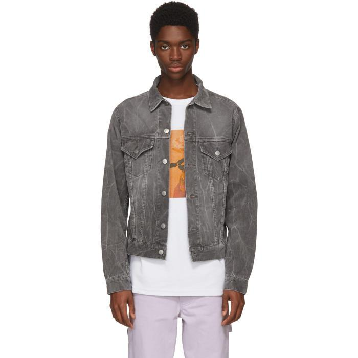 John Elliott Faded Jacket In Charcoal