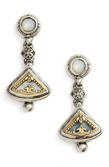 Konstantino Etched Sterling Silver & Gold Drop Earrings In Silver/ Gold/ White