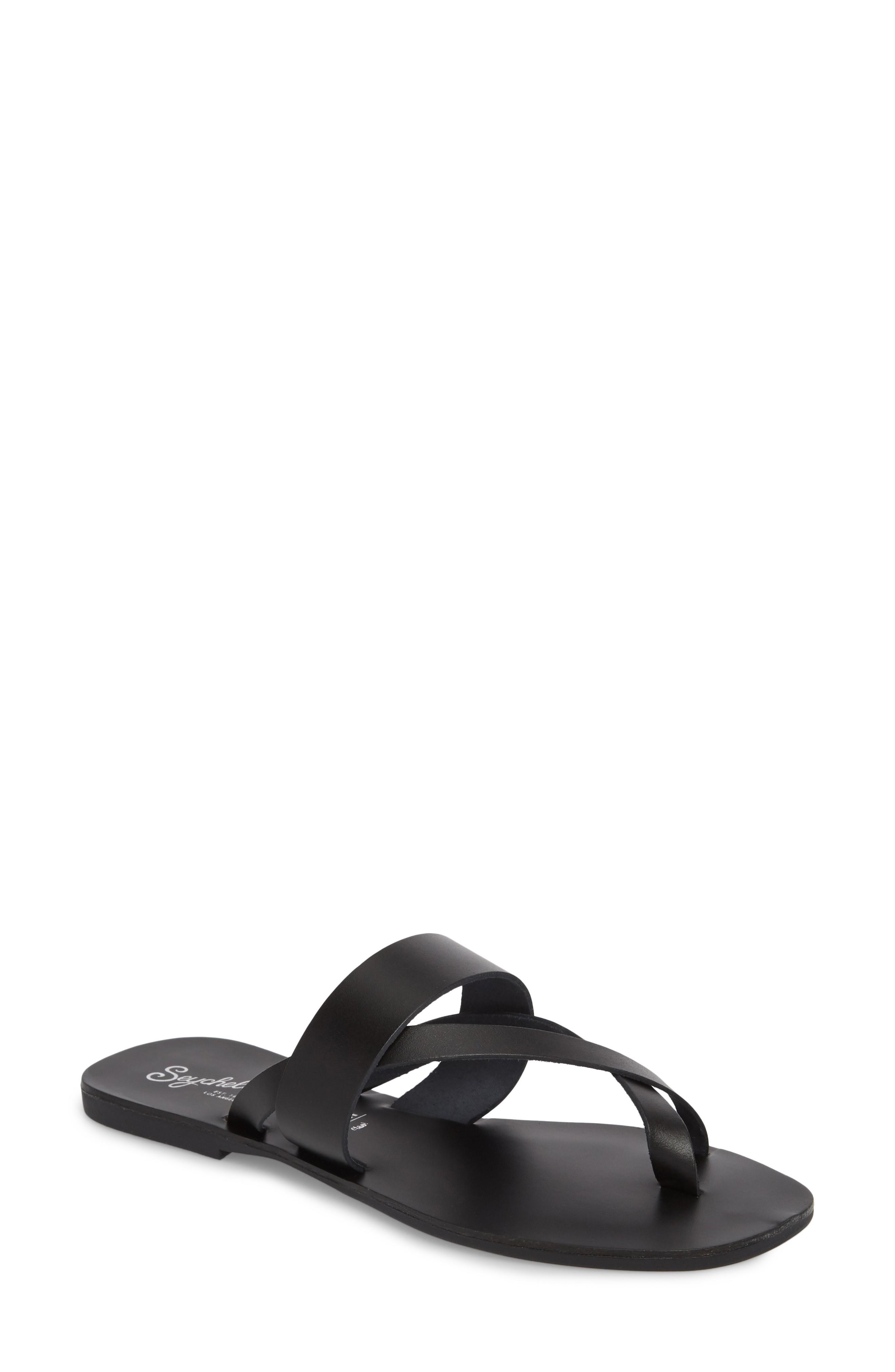 5435be6942c1 Seychelles Destiny Thong Sandal In Black Leather