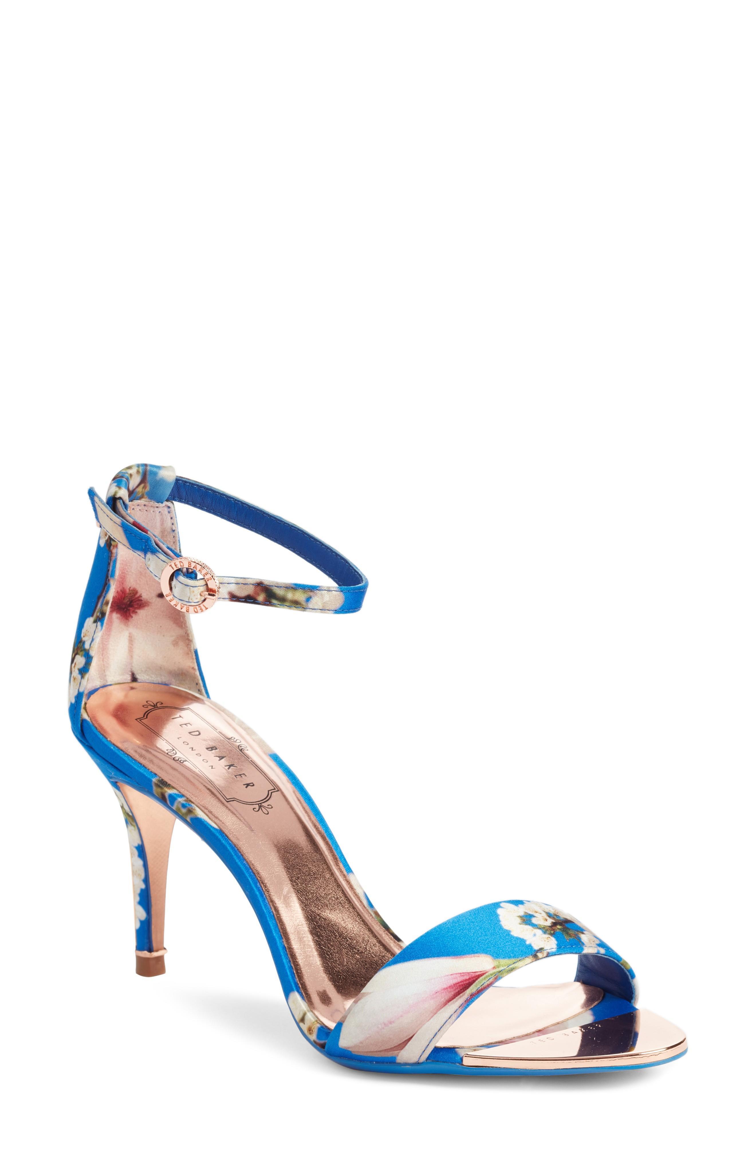 f0c2d30c9fd Ted Baker Mavbe Ankle Strap Sandal In Blue Harmony Print
