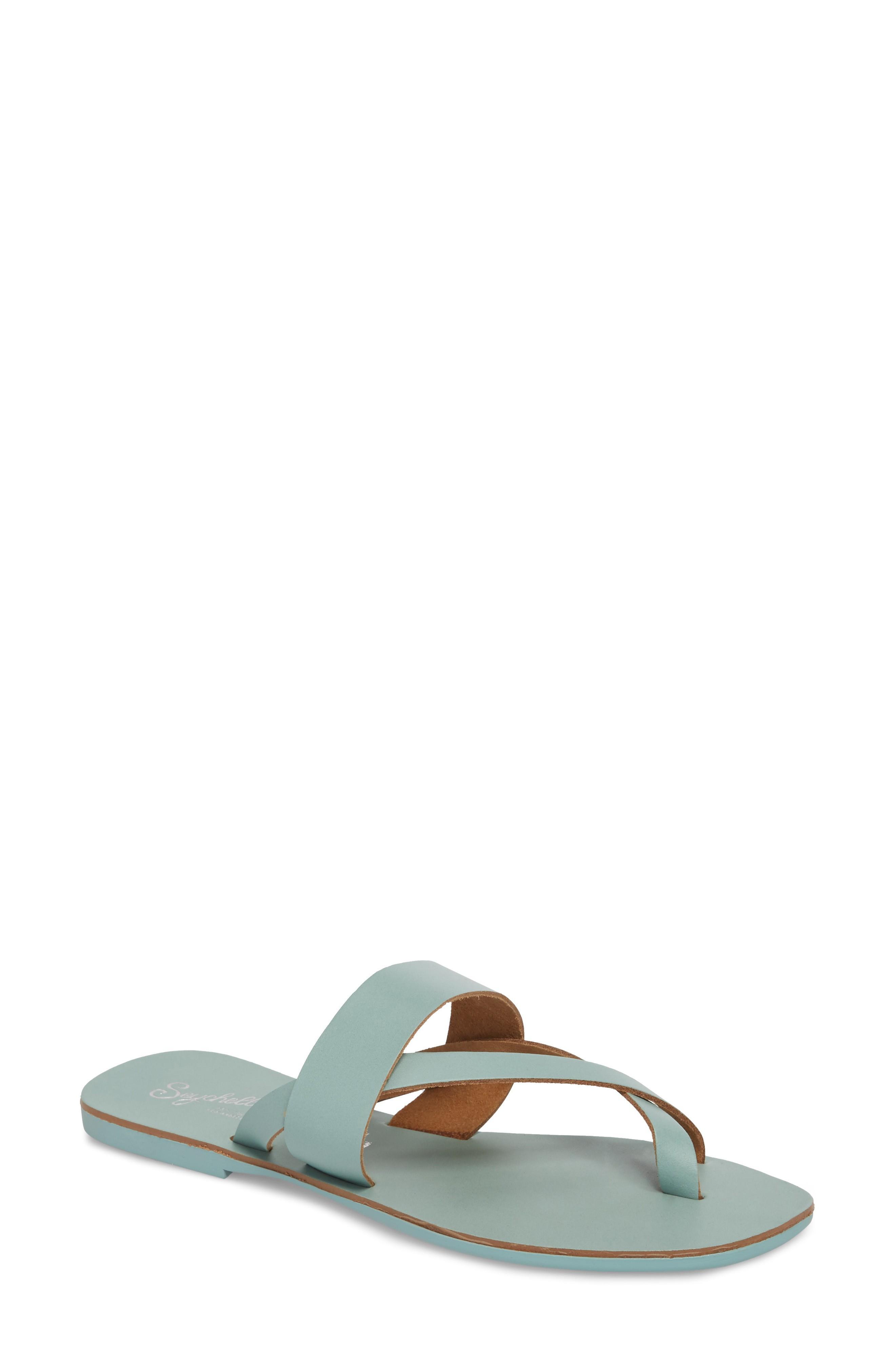 feb4593927c7 Seychelles Destiny Thong Sandal In Seafoam Leather