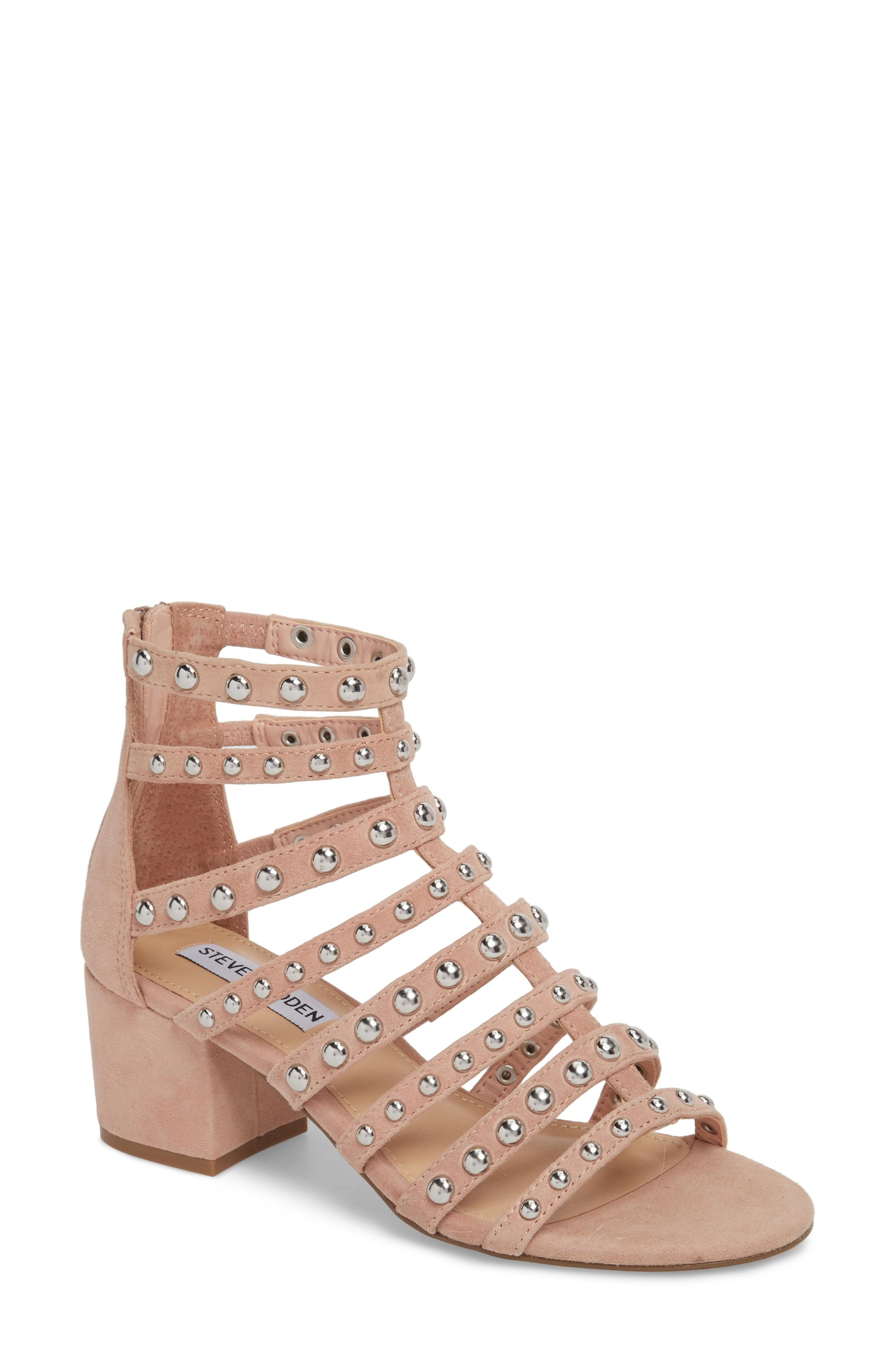2712ce1f752 Steve Madden Mania Studded Cage Sandal In Blush Multi