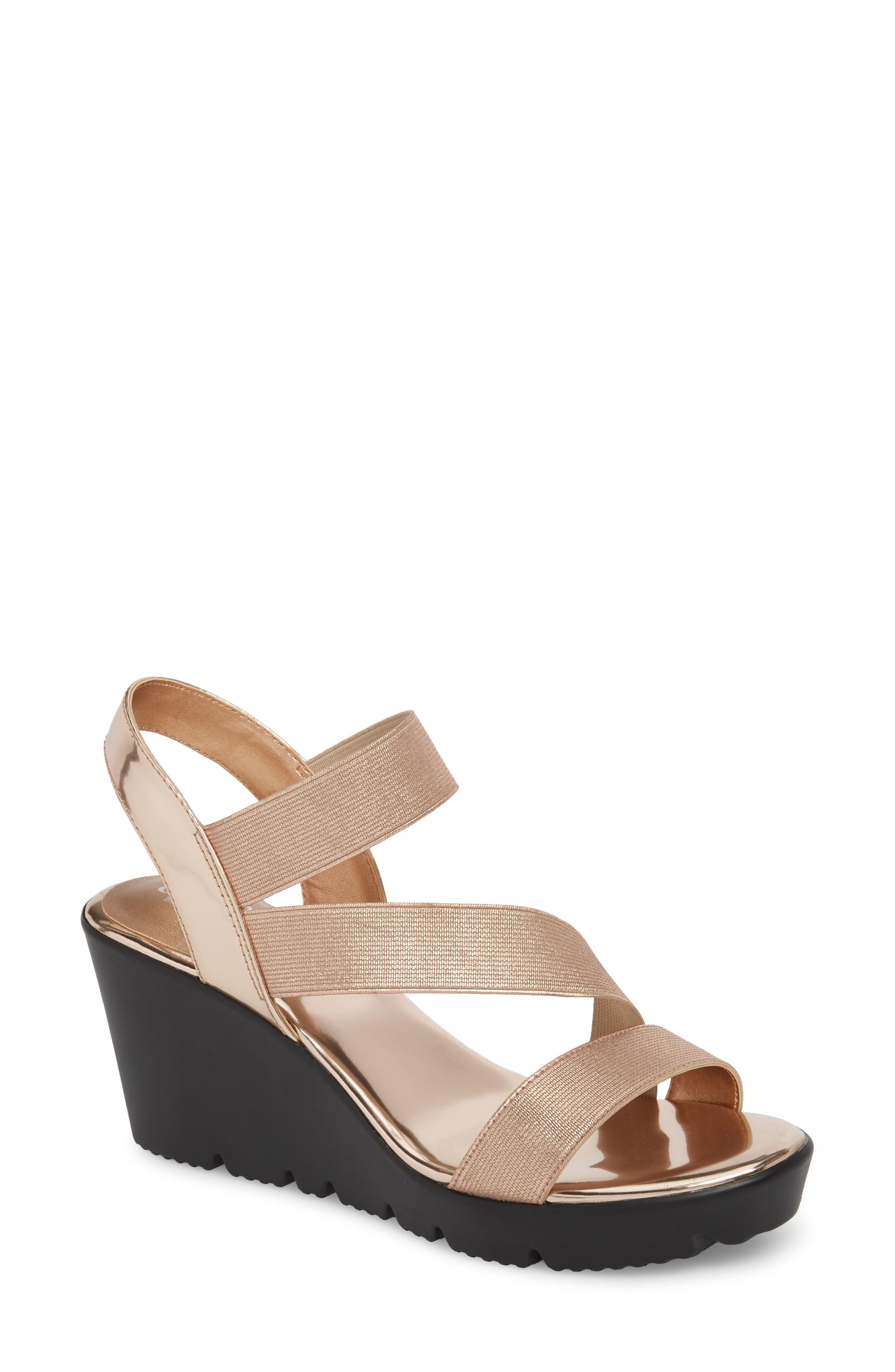 49e32ea34b76 Charles By Charles David Vent Wedge Sandal In Black Patent Leather ...