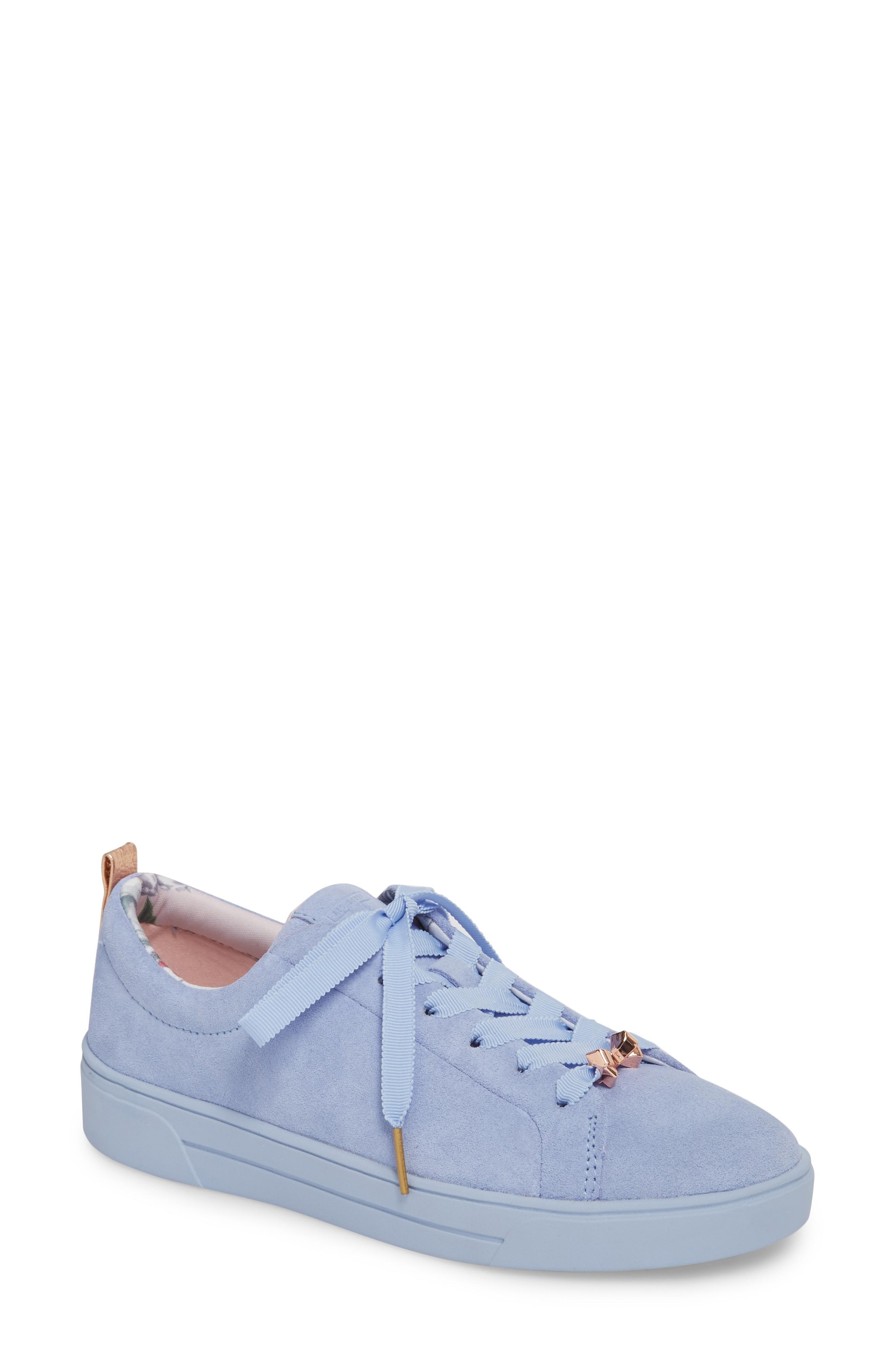 3a1d7c6bbd1161 Ted Baker Kelleis Sneaker In Light Blue Suede