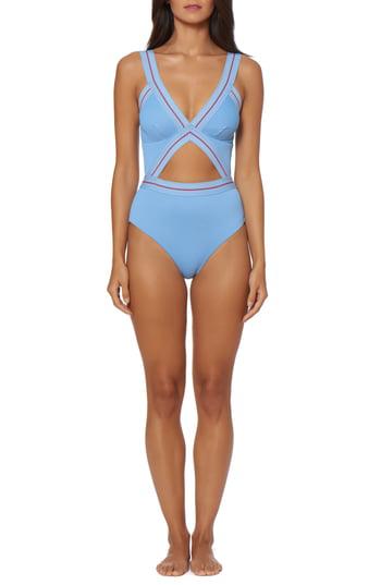49586fdda0912 Dolce Vita Bondi Beach One-Piece Swimsuit In Chambray   ModeSens