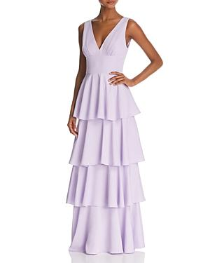Nicole Miller Sleeveless Tiered Gown - 100% Exclusive In Lilac