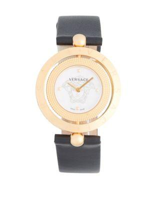 Versace Stainless Steel Buckled Strap Watch In Rose Gold