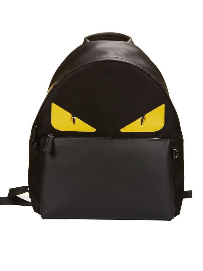 c3751555f353 Fendi Logo Printed Bag Bugs Backpack In Black