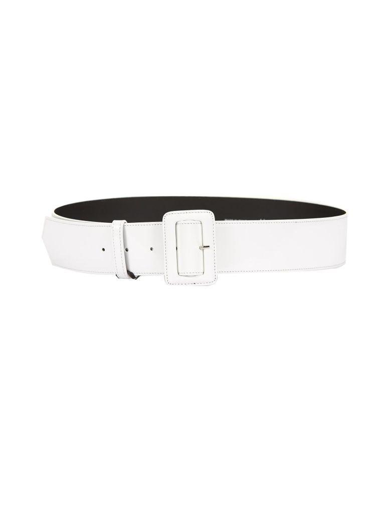 Blugirl Wide Buckle Belt In Bianco