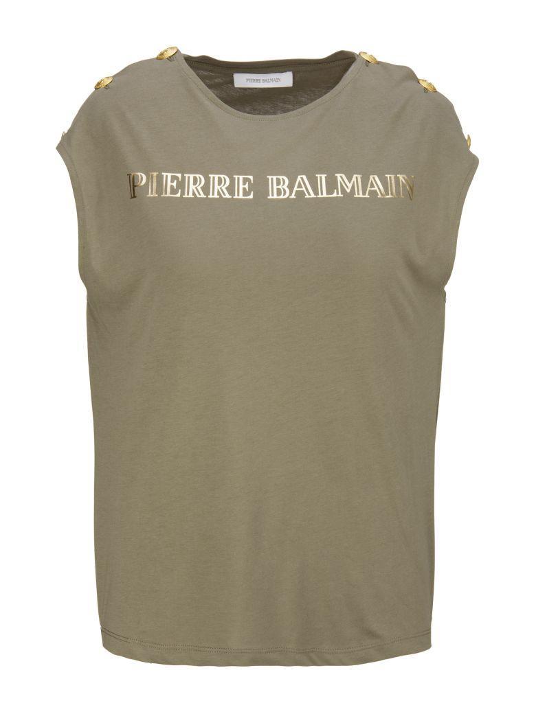 Pierre Balmain T-Shirt In Kaki