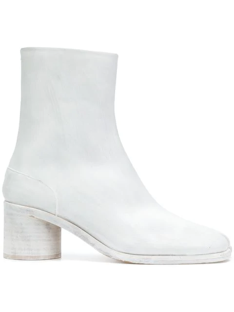 Maison Margiela 60Mm Tabi Leather Boots In White