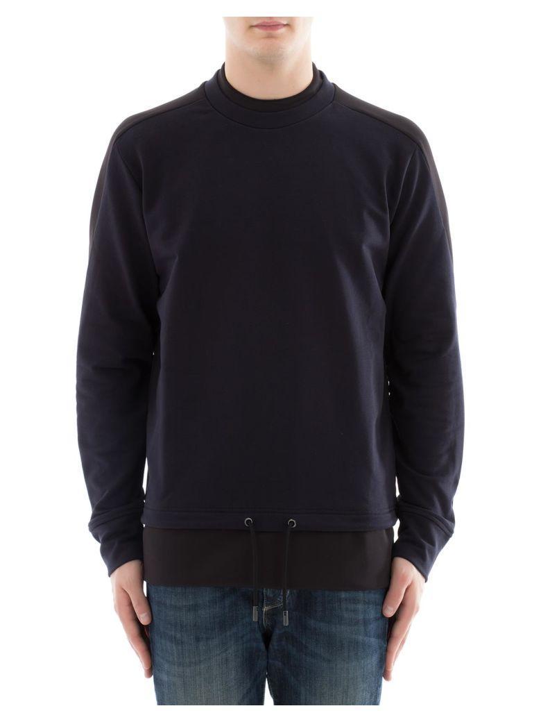 Diesel Black Gold Blue Cotton Sweatshirt