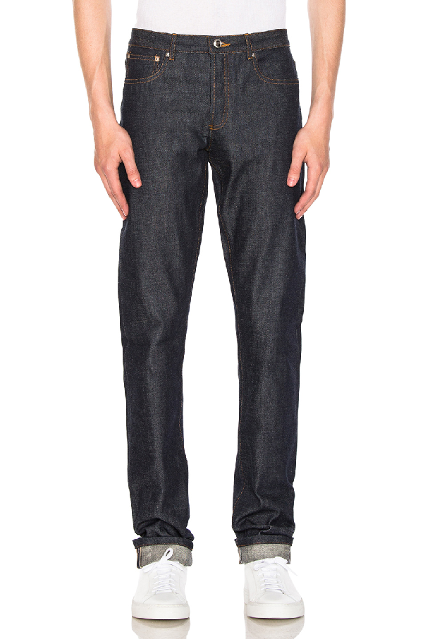 A.P.C. Petit New Standard Skinny Fit Selvedge Jeans In Indigo