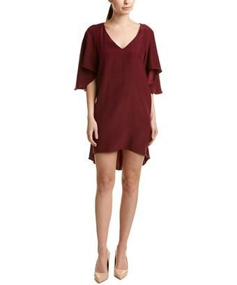 Amanda Uprichard Silk Shift Dress In Red