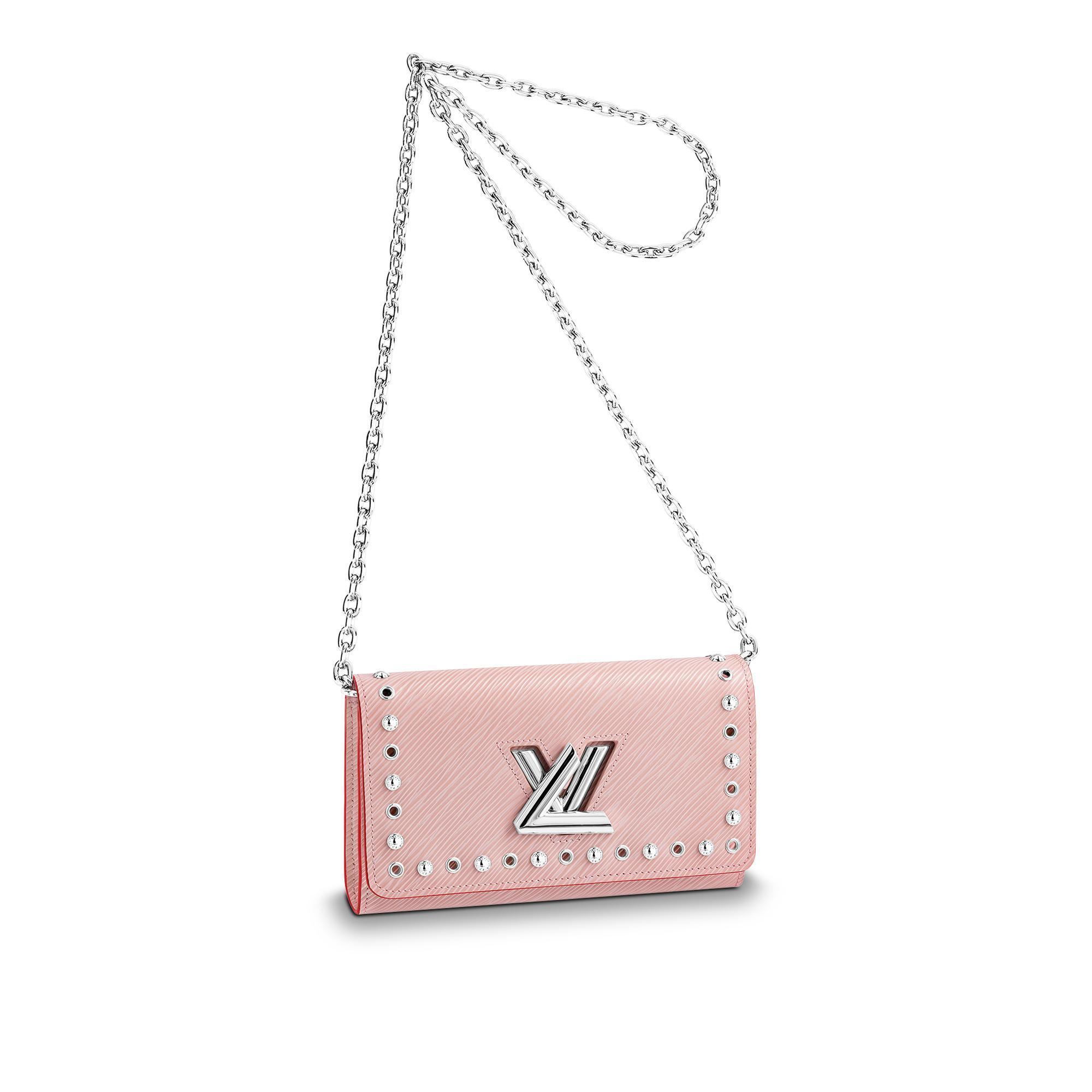 b01e4c5c4ea4 Louis Vuitton Twist Chain Wallet In Rose Ballerine