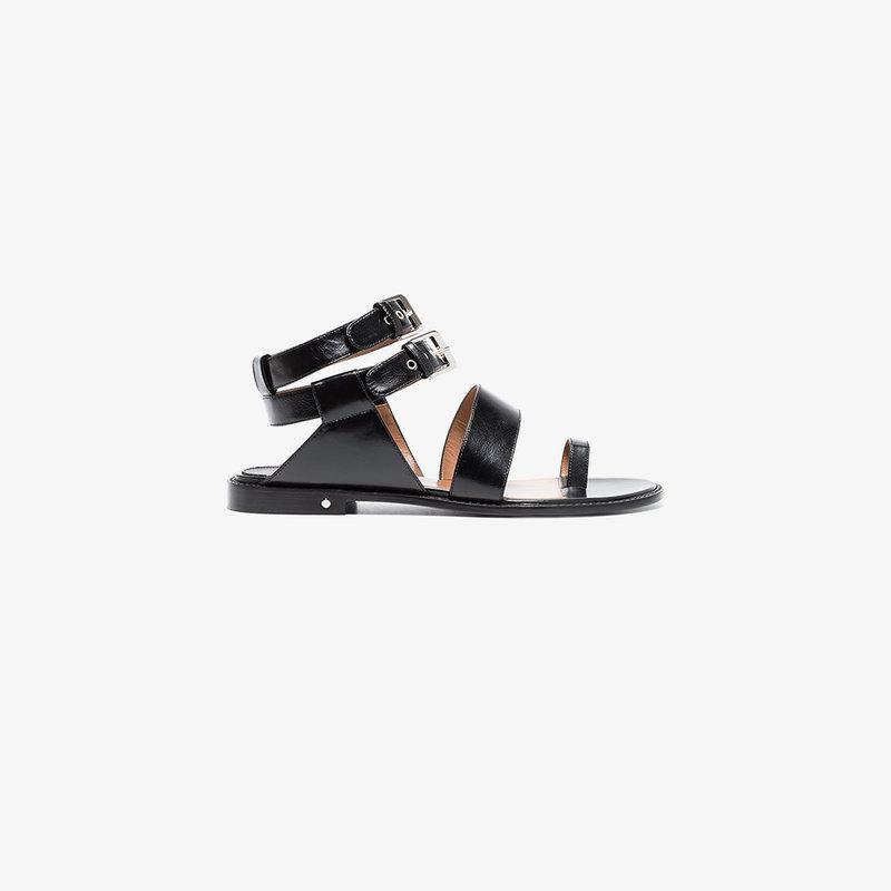 Laurence Dacade Black Ruiz Leather Sandals