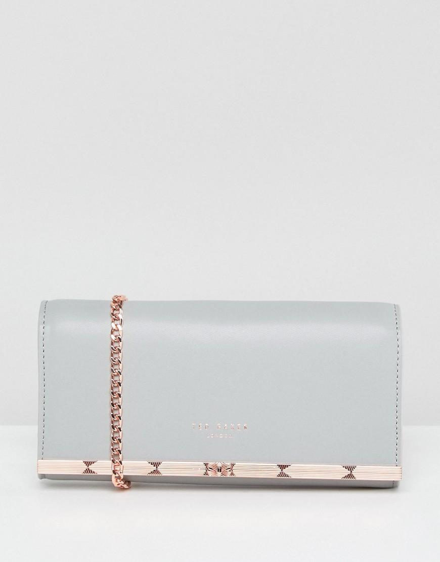 Ted Baker Metal Bar Matinee With Chain - Gray