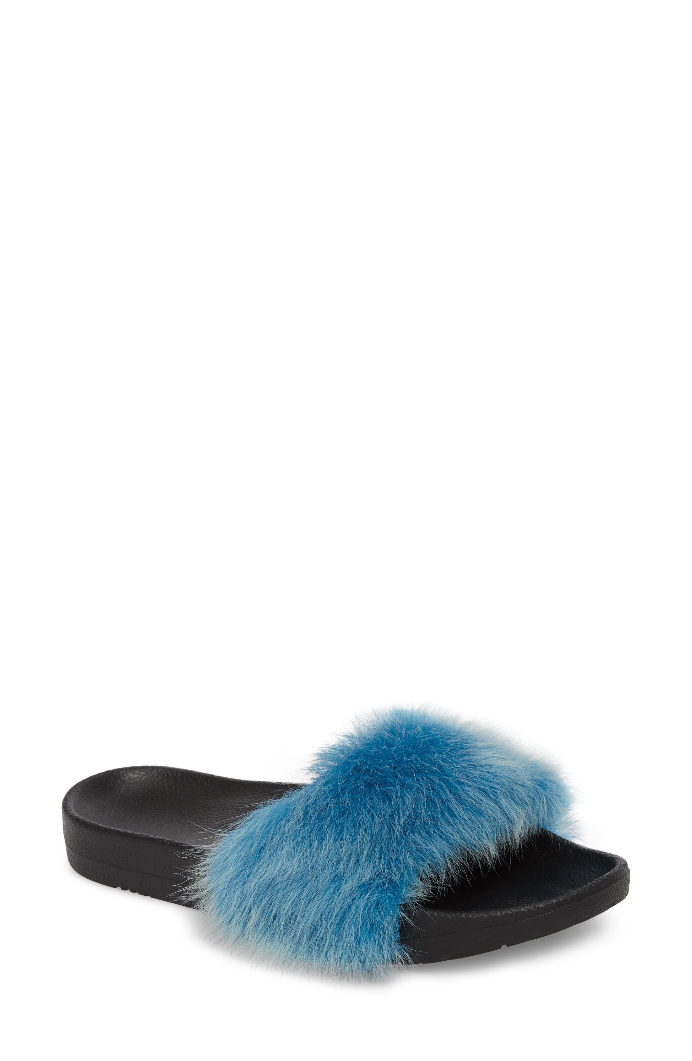 52b497442 Ugg Royale Genuine Shearling Slide Sandal In Enamel Blue | ModeSens