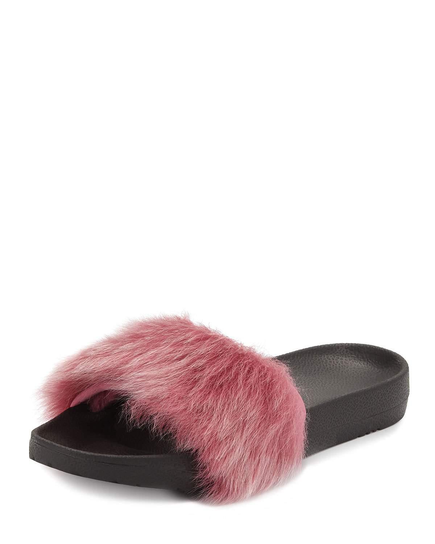 522114949 Ugg Royale Toscana Fur Pool Slides, Pink In Bramble Berry | ModeSens