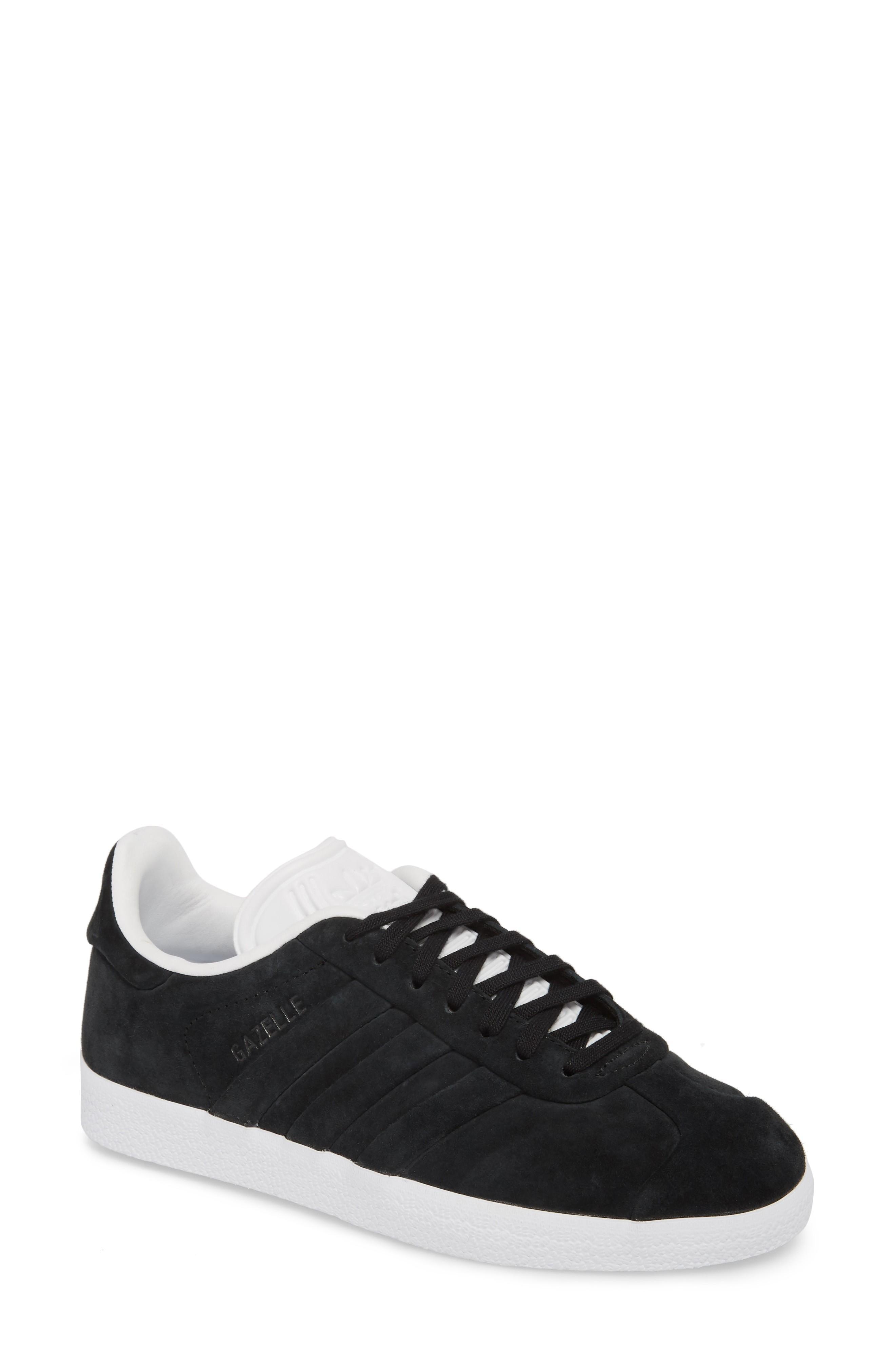 ADIDAS ORIGINALS. Gazelle Stitch   Turn Sneaker in Core Black  Core Black   White 1234af278