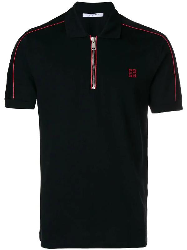 5331dcd24 Givenchy Cuban-Fit Half-Zip Cotton-PiquÉ Polo Shirt In Black | ModeSens