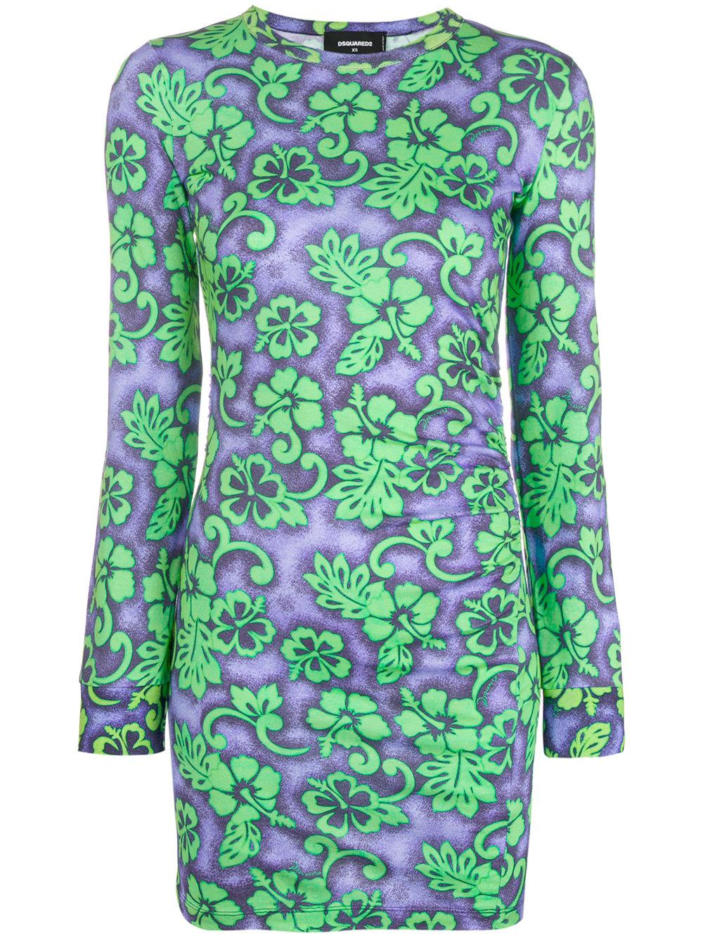 Dsquared2 Floral Fitted Dress