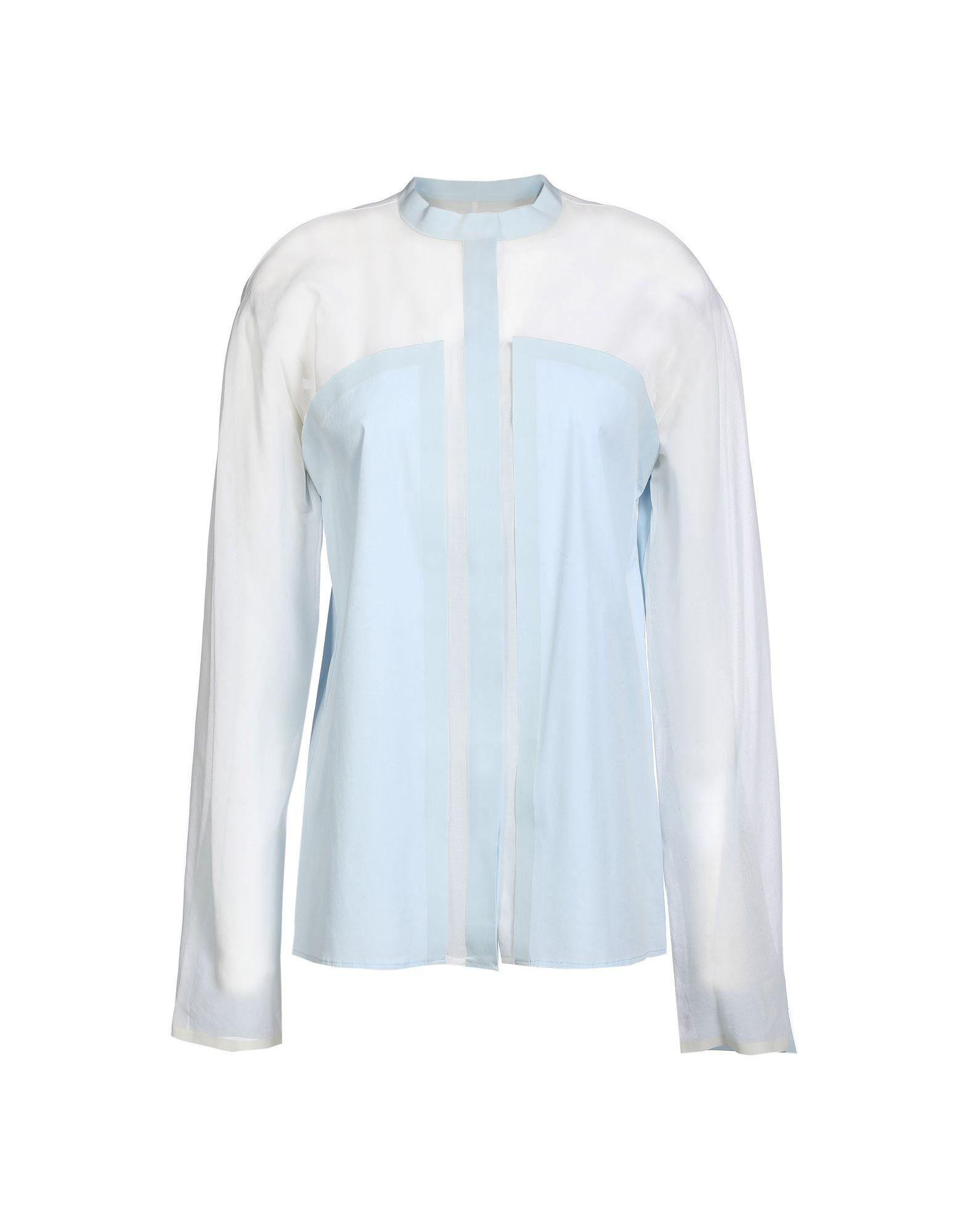 Vionnet Patterned Shirts & Blouses In Sky Blue