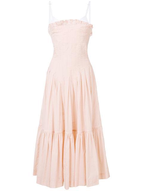 Erika Cavallini Strapless Flared Dress
