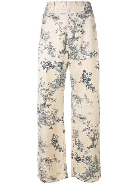 Ermanno Gallamini Printed Style Flared Trousers