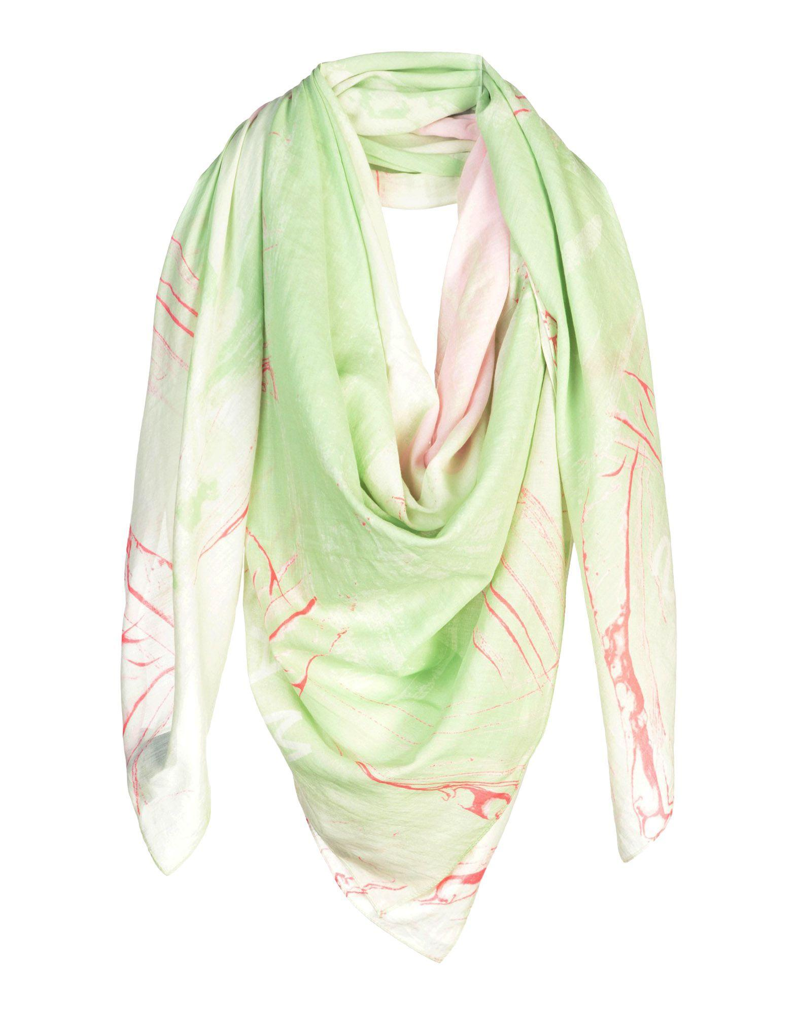 Marc By Marc Jacobs Square Scarves In Light Green