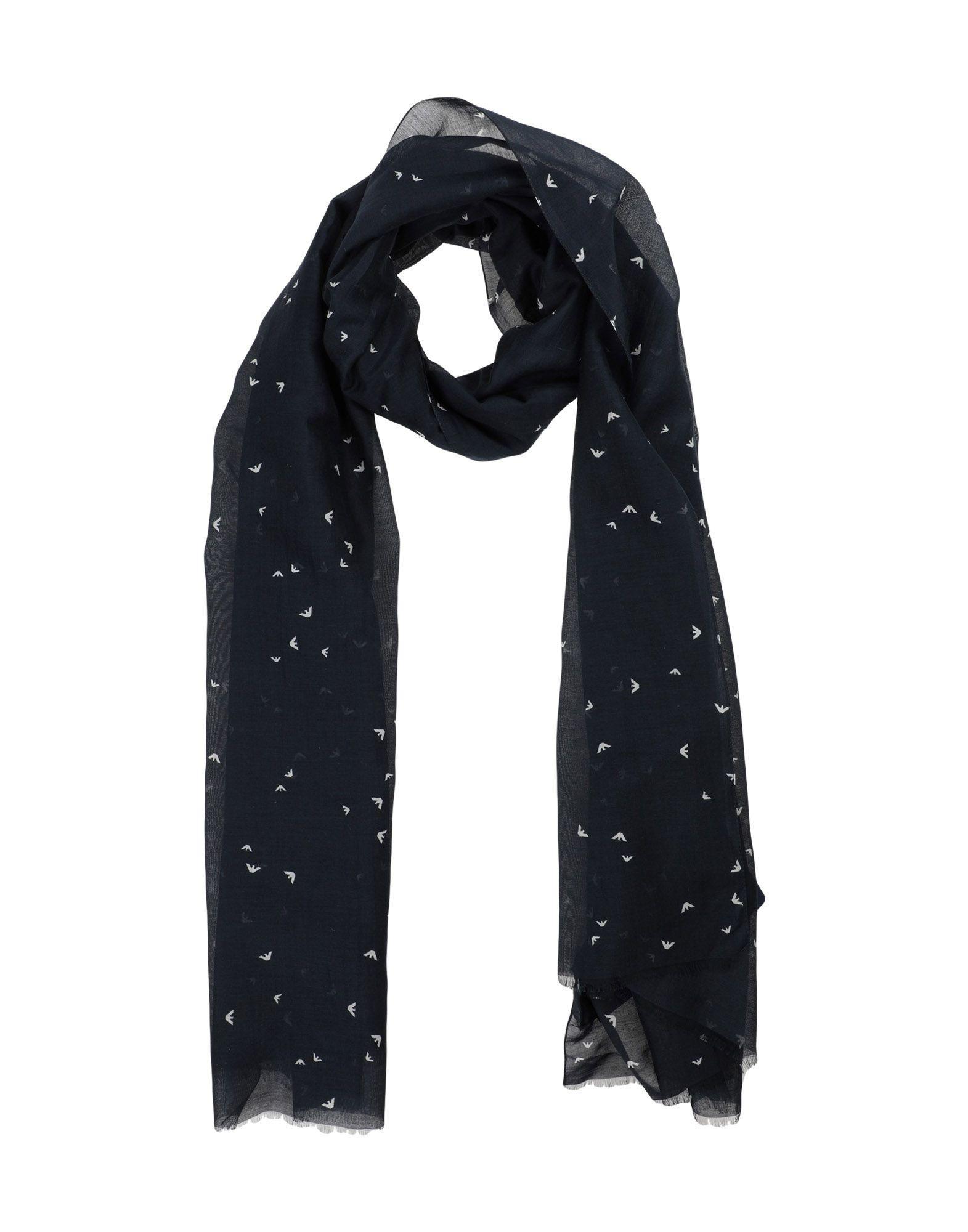 Armani Jeans Oblong Scarves In Dark Blue